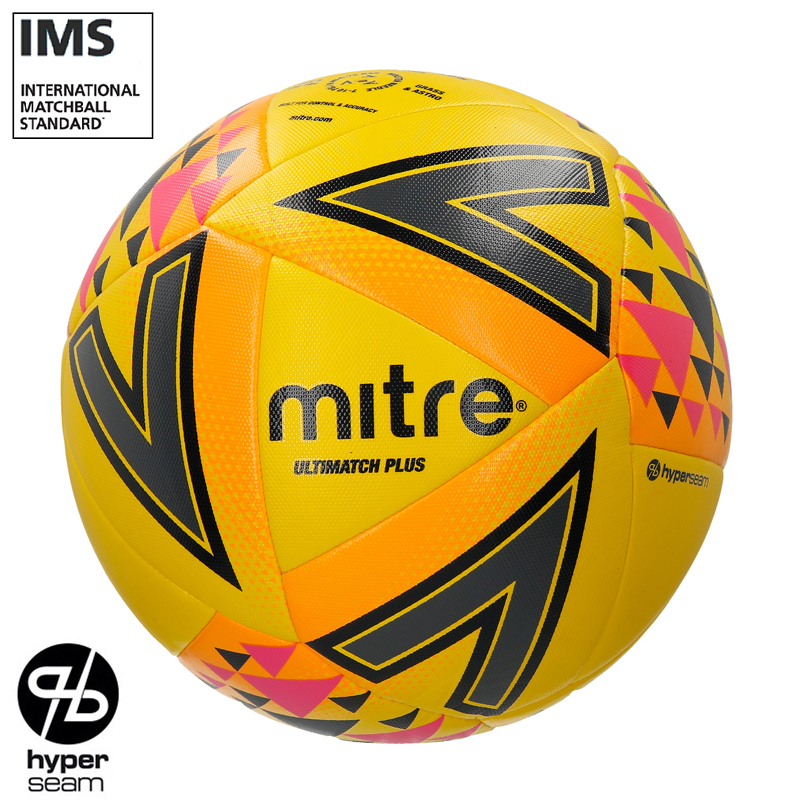 Mitre FLUO Ultimatch Plus Hyperseam Match Football  (3,4,5)