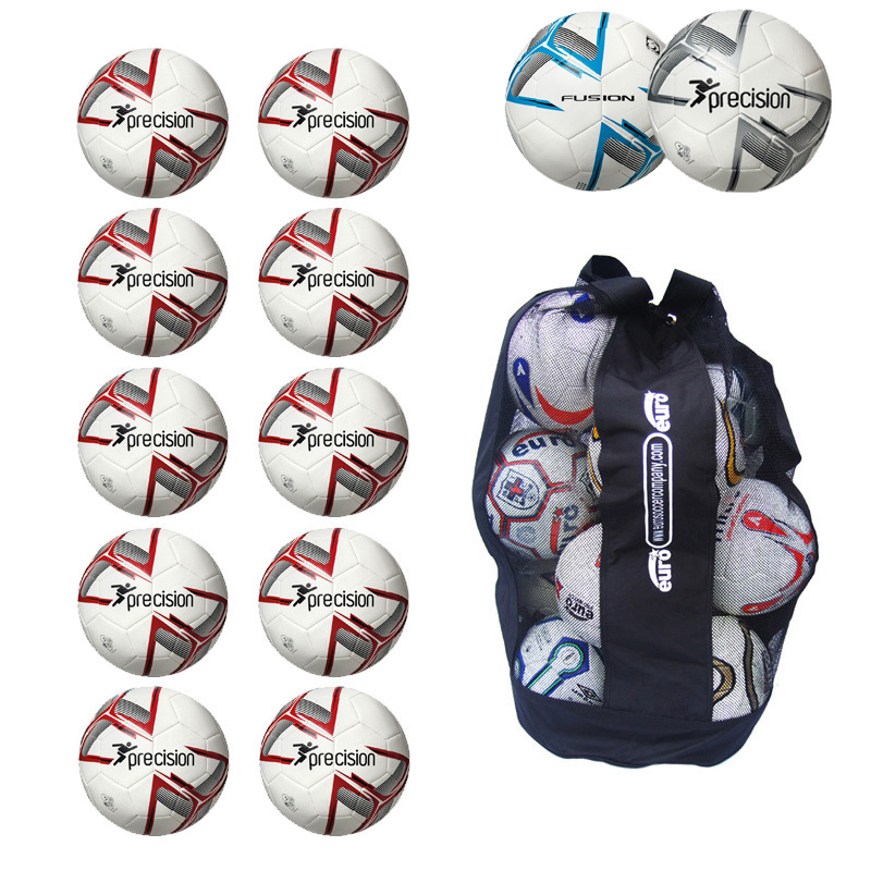 Ball Sack of 10 Precision Fusion IMS Footballs (3,4,5)